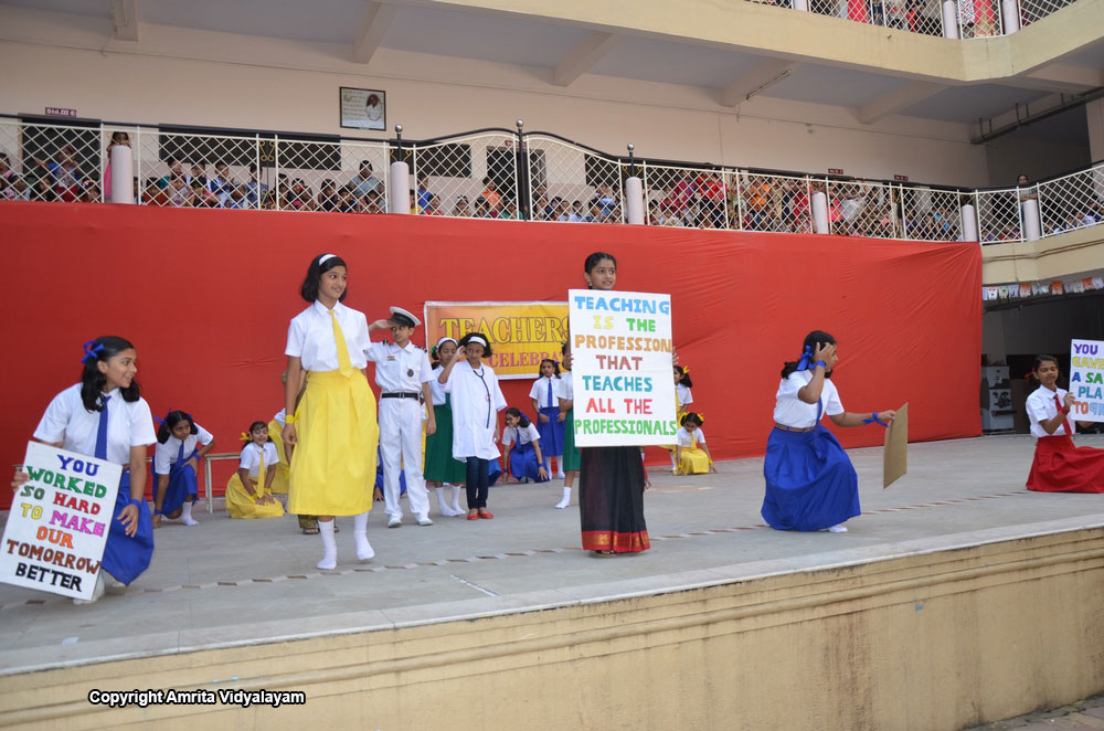 teachers day celebration 2015 teachers day was celebrated on 12th october 2015 important events of the day are : - welcoming teachers by students with flowers - distribution.
